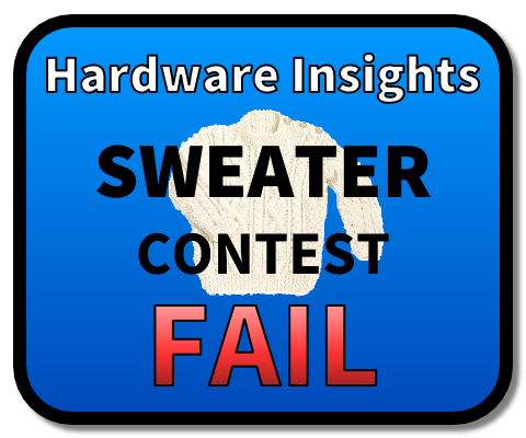 Sweater Contest Fail